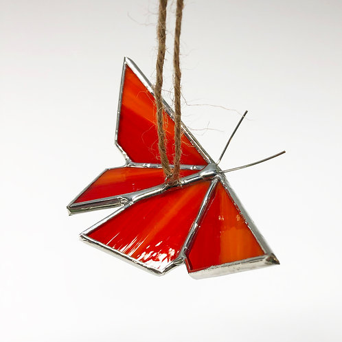 Red Orange Origami Butterfly - Ready to Ship