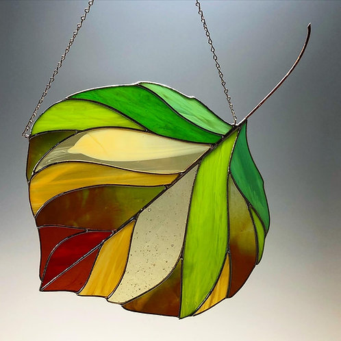 Autumnal Aspen Leaf - Ready to Ship