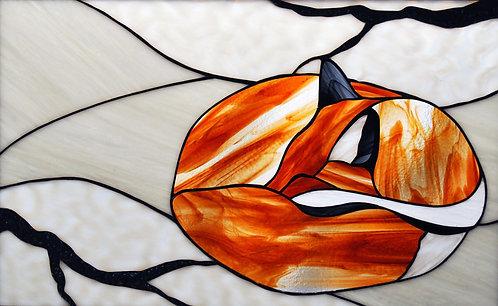 Sleeping Fox Panel - Ready to Ship