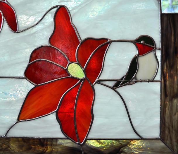 Clematis and Hummingbird
