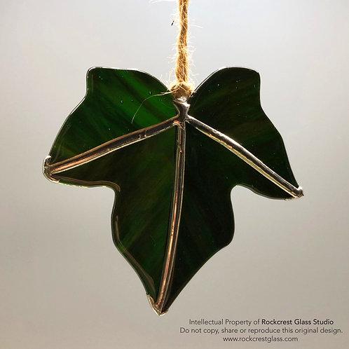 Minimal Dark Green Ivy Leaf