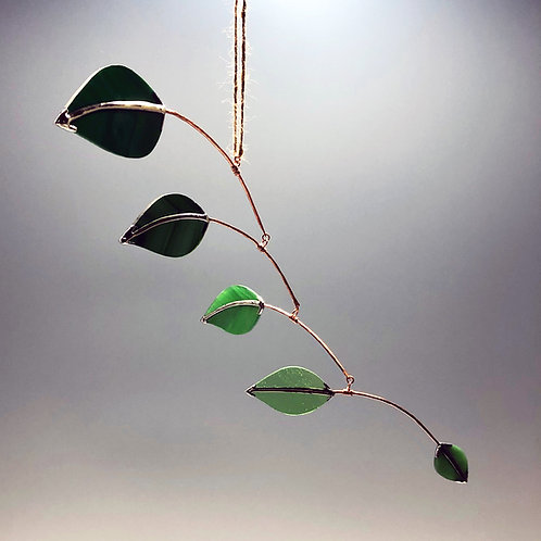Small Glass Leaf Mobile #2