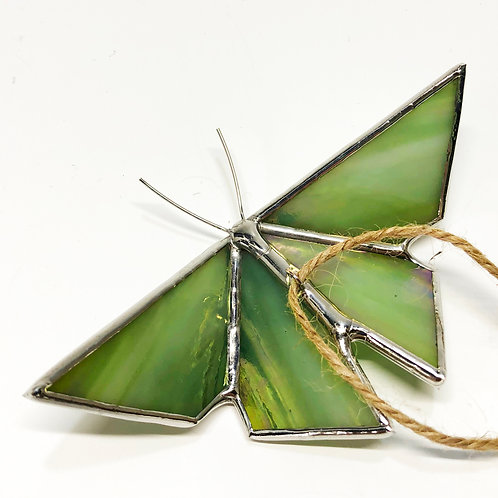 Iridescent Green Origami Butterfly - Ready to Ship