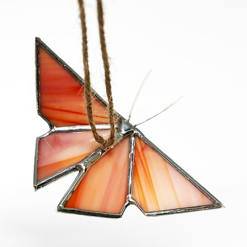 Red Orange Peach Origami Butterfly - Ready to Ship
