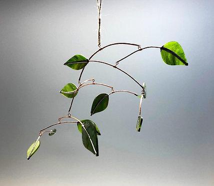 Medium Glass Leaves Mobile
