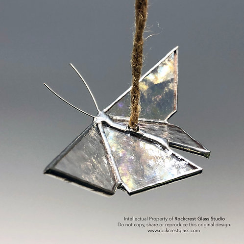 Clear Iridescent Origami Butterfly