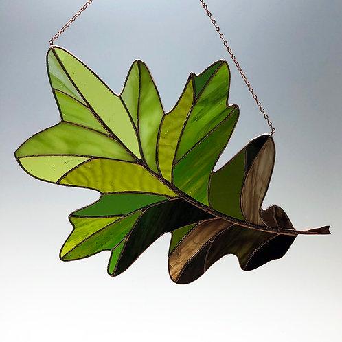 White Oak Leaf Seasonal Shift -Ready to Ship