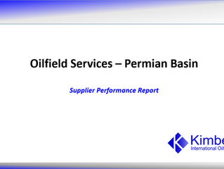 Permian Basin Supplier Performance Report