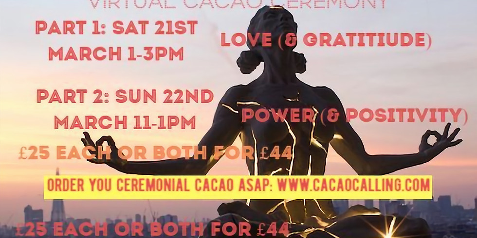 PART 2: Virtual Cacao Calling ceremony on Power and Positivity