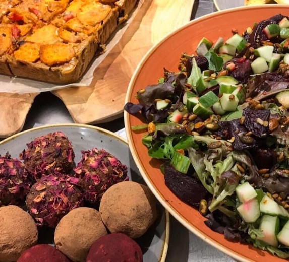 Delicious plant based food