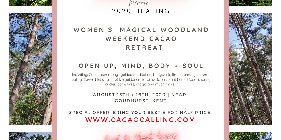 Womxn's magical woodland healing cacao retreat weekend