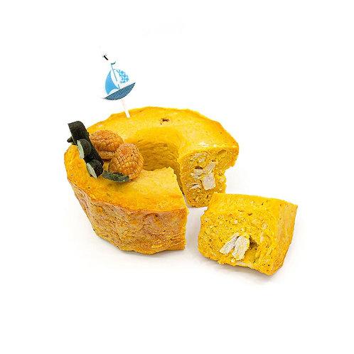 PUMPKIN & PEANUT BUTTER CHICKEN CAKE