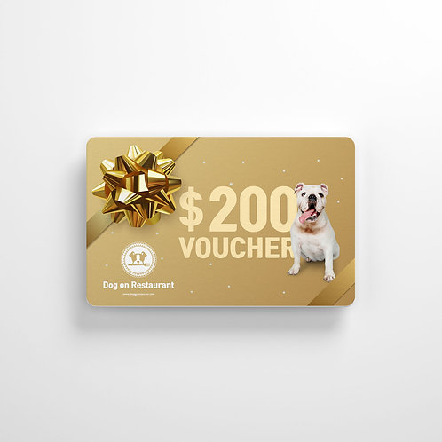 $200 Dog On Gift card