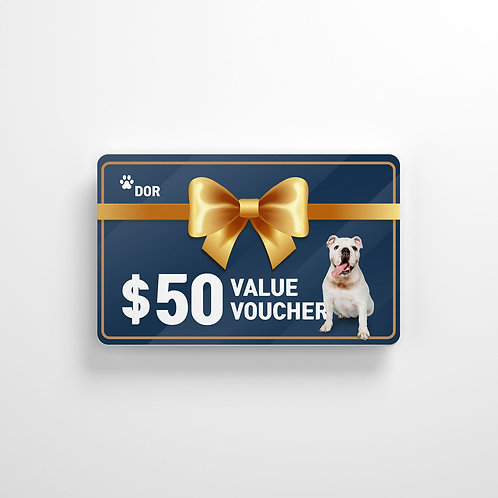 $50 Dog On Gift card