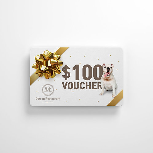 $100 Dog On Gift card