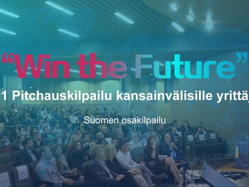 """""""WIN THE FUTURE"""" Pitchauskilpailu Kansainvälisille Yrittäjille Toivottaa Innovaatiotiimit Tervetulle"""