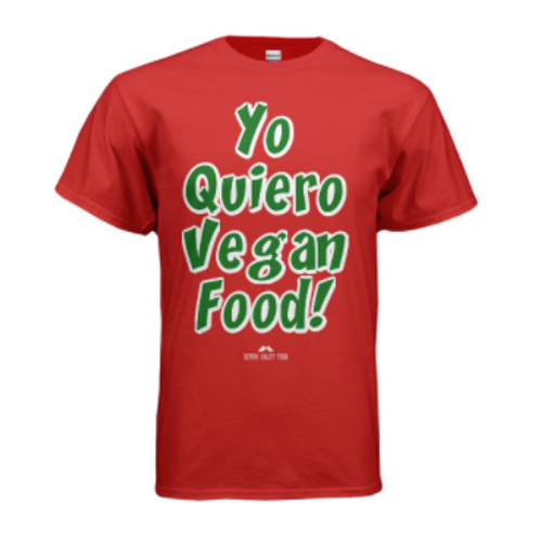 Yo Quiero Vegan Food Shirt - Red