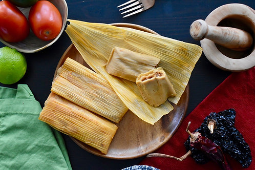 Vegan Pork Tamales - Dozen