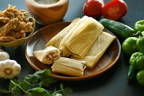 Vegan Chicken and Salsa Tamales - Dozen