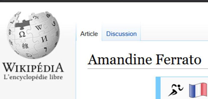 Page wikipedia d'Amandine FERRATO