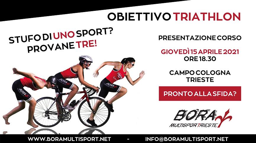 Obiettivo Triathlon evento FB 15 aprile.