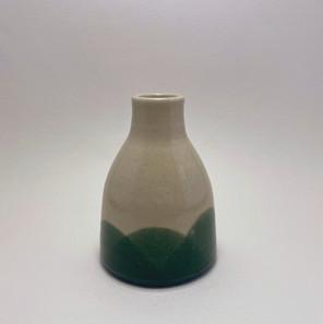 Vase - Clear over Teal