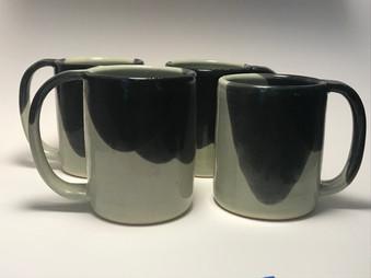 Mugs - Aqua over Black