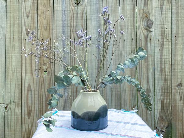 Lg Vase w/Flowers