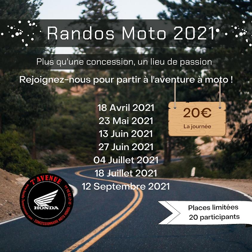 RANDO MOTO : DIMANCHE 18 AVRIL 2021 - 8H30