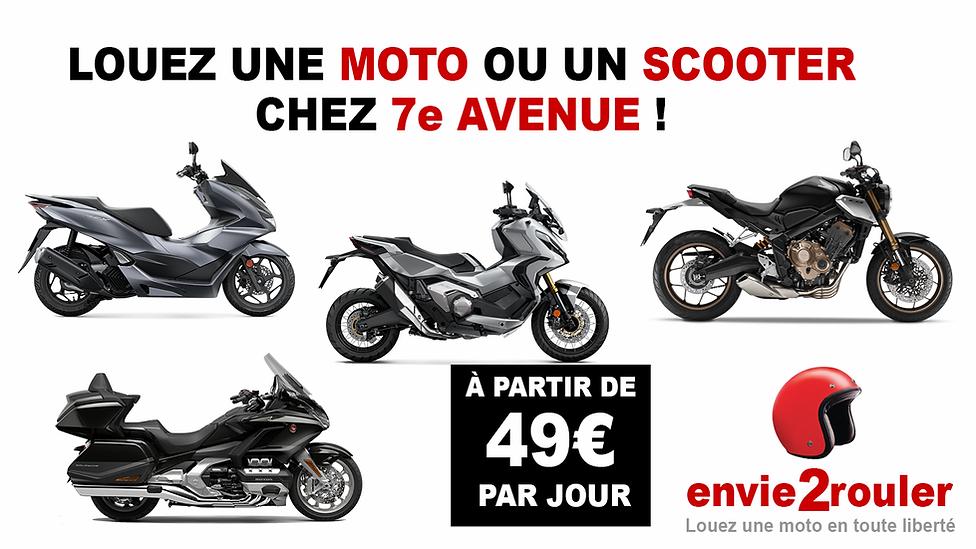 Location moto et scooter concession Honda 7ème Avenue*