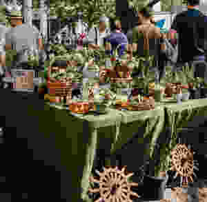 market, summer