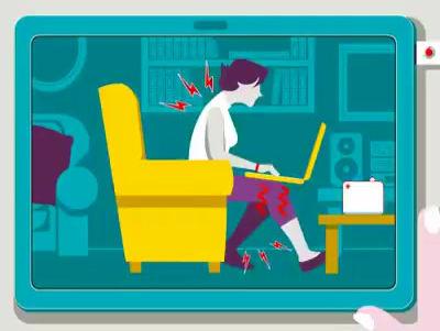 ¡Mejora tu postura de trabajo frente a un computador !