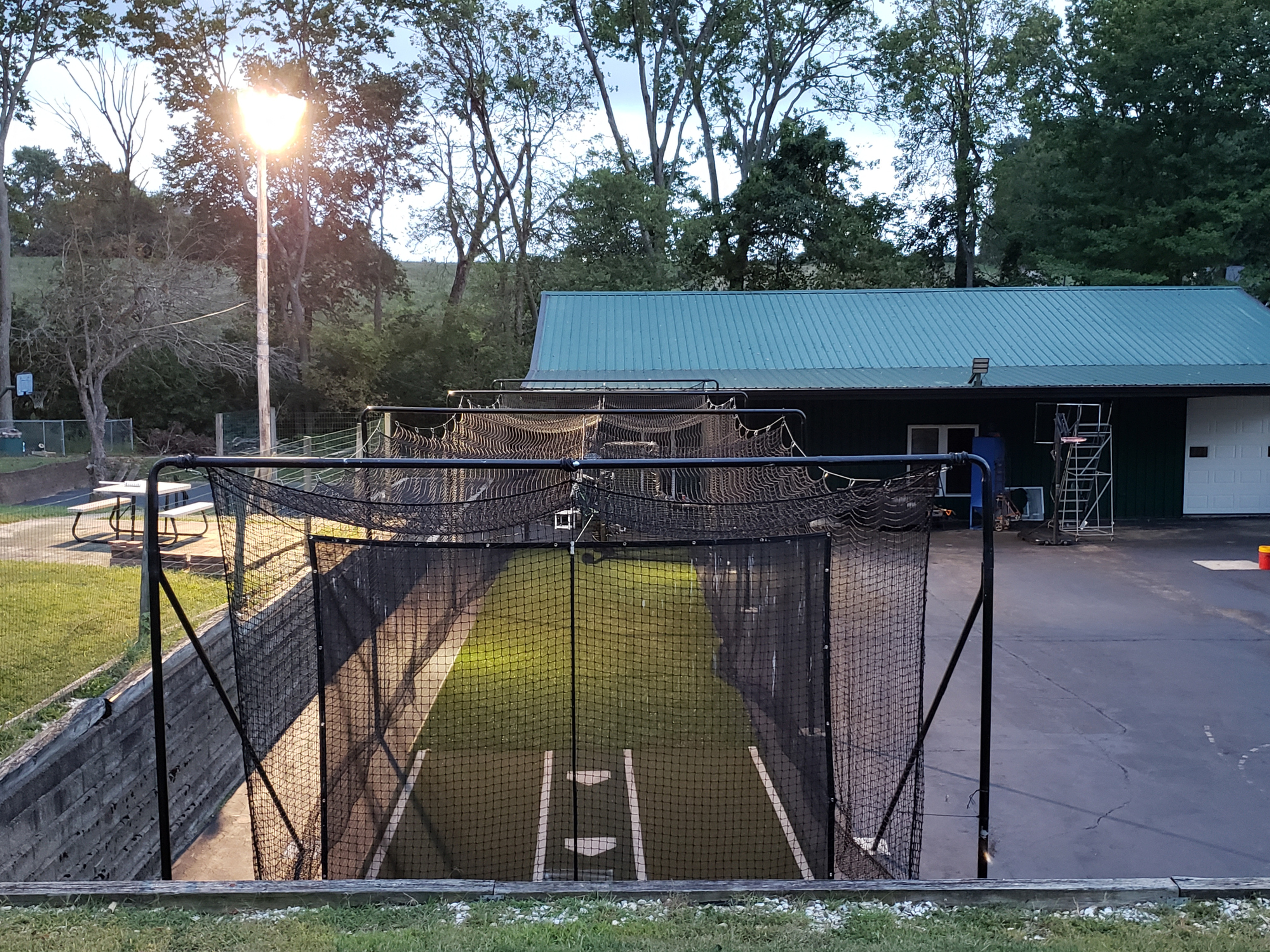 Outdoor cage Field/Pitching Training