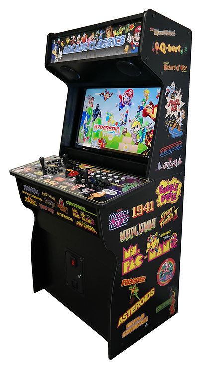 "(NEW) 32"" Retro Arcade - 8TB Hyperspin/Mame w/ 80k+ Games"