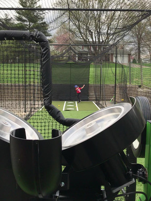 Outdoor 70' Batting Cage !