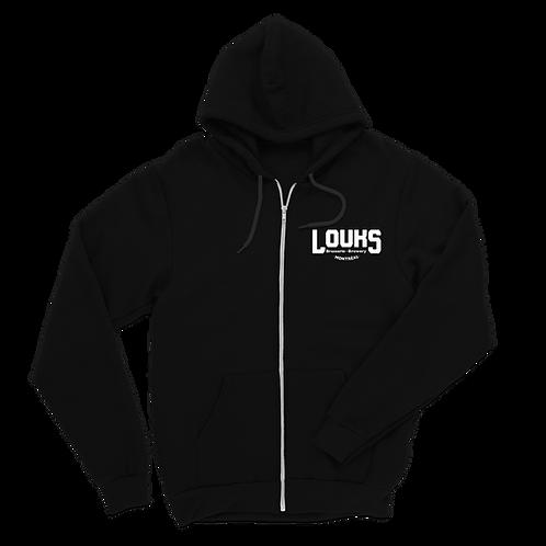 hoodie zipper-black