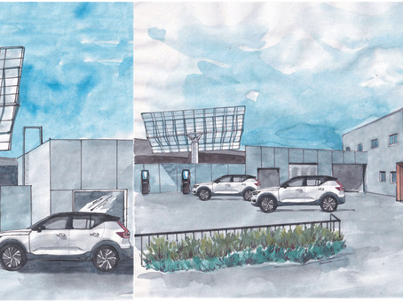 Solar storage EV charging stations at EV dealerships
