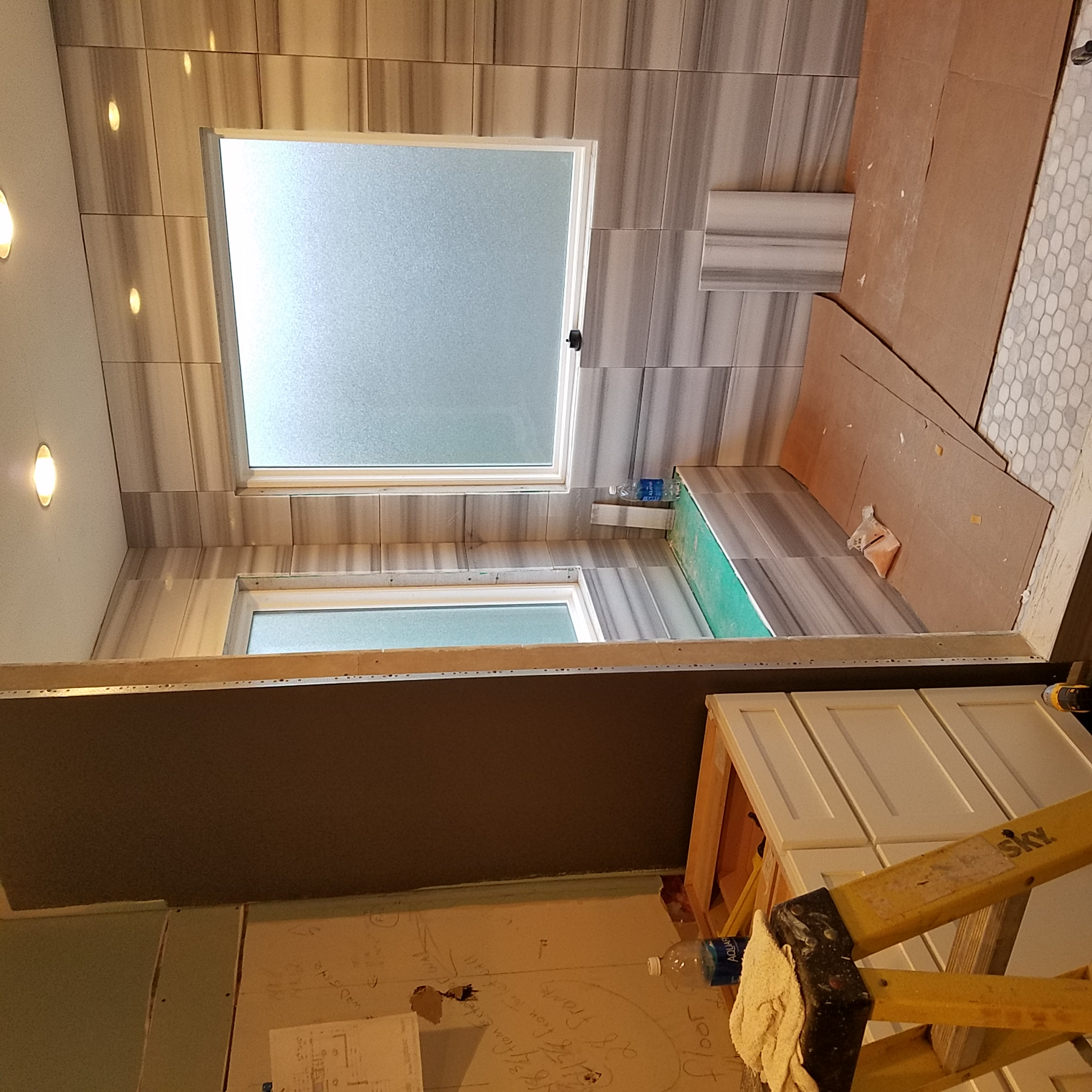 Master Suite Shower In Progress