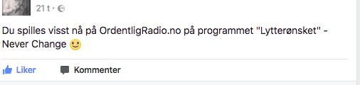 HØR MEG PÅ RADIO IKVELD!
