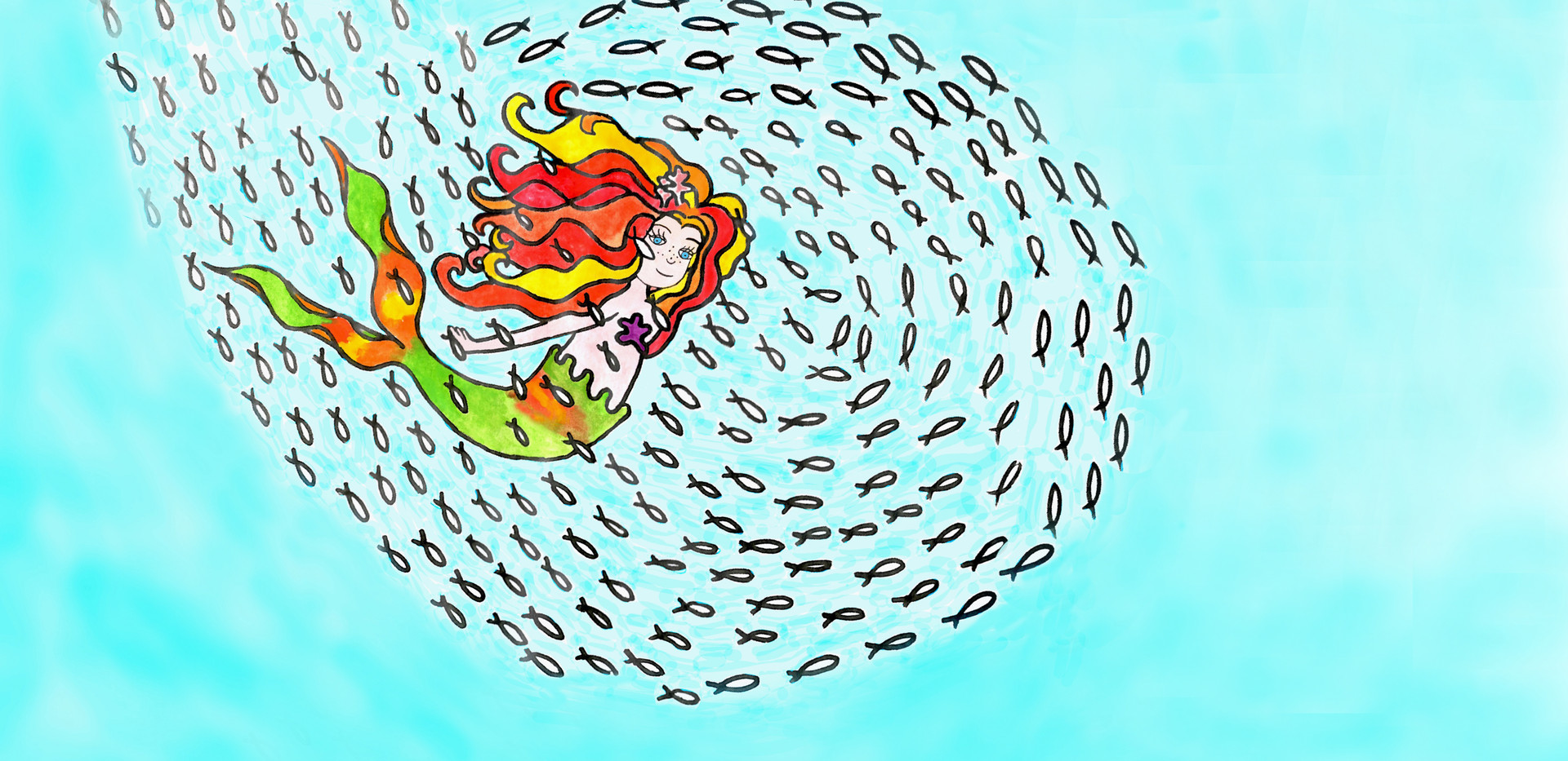 It is so much fun to swim through a shimmering and silvery ball of fish
