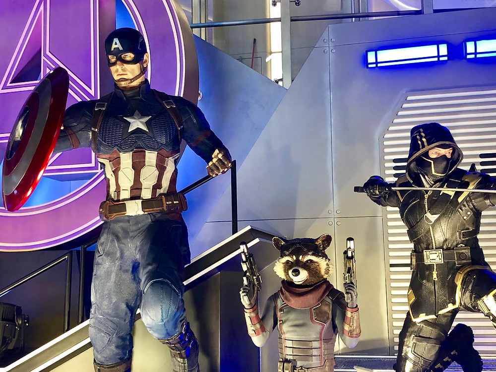 Hong Kong Avengers Endgame Exhibition Captain America, Rocket
