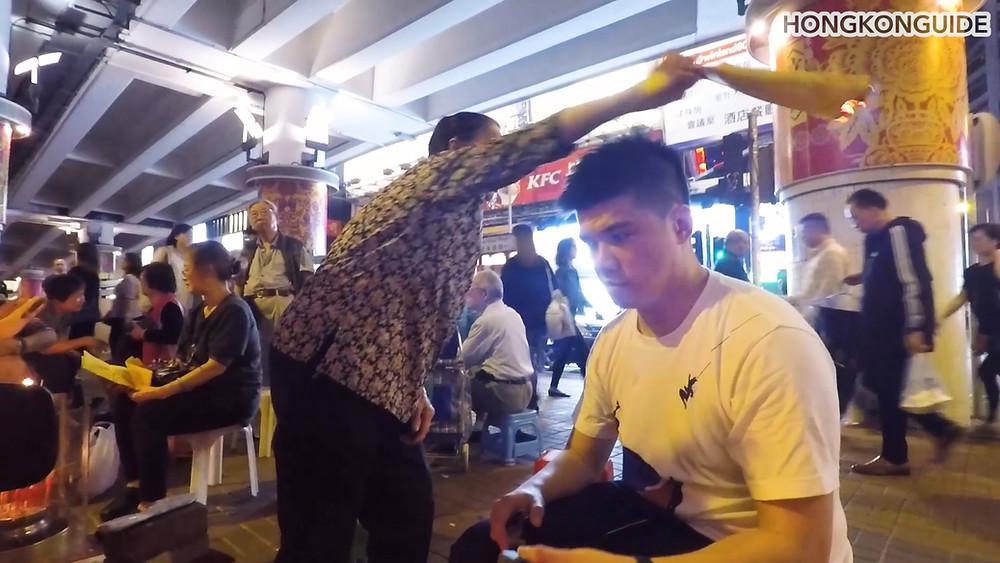 Hong Kong villain hitting Causeway Bay Hong Kong