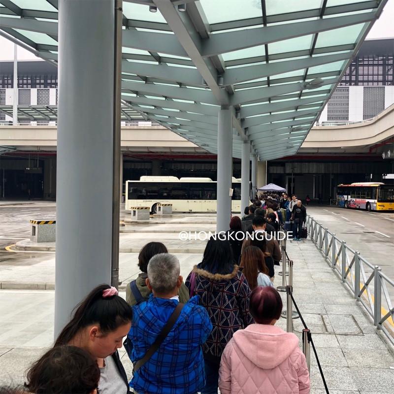 HZM Bridge Macau Port Interchange station bus