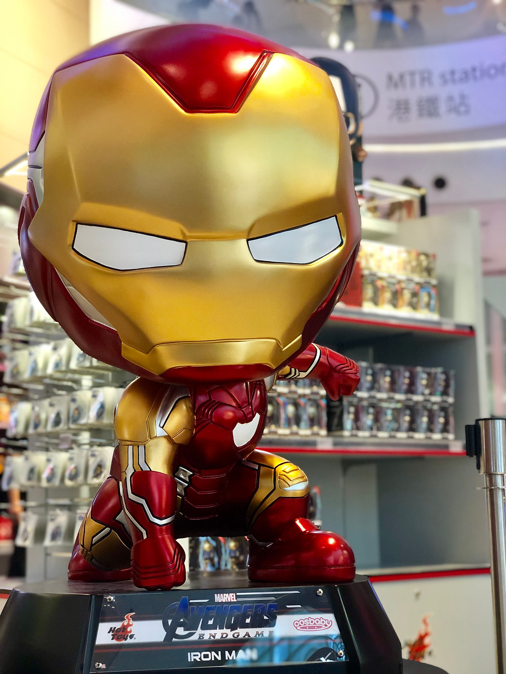 Hong Kong Avengers Endgame Exhibition Iron Man figure pop-up store
