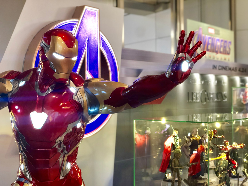 Hong Kong Avengers Endgame Exhibition Iron Man Pop-up Store