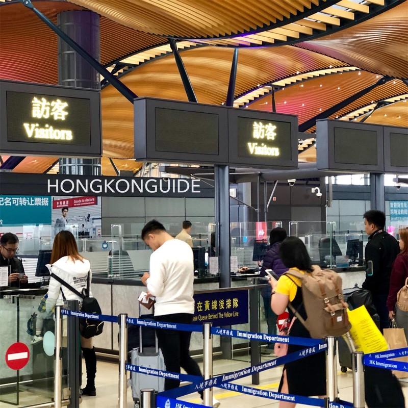 HZM Bridge Hong Kong Port Immigration