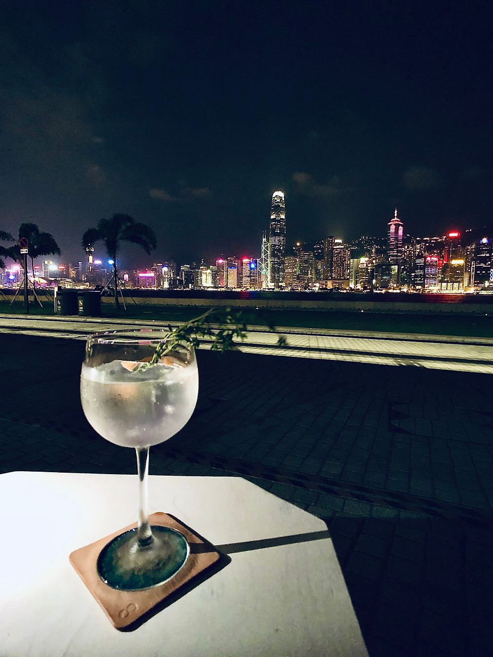 West Kowloon cultural district rest coffee gin