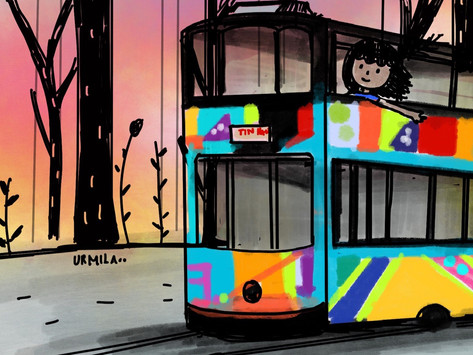 This Indian artist explores Hong Kong through her surreal sketches