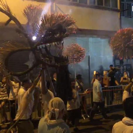 Fire Dragon Dance in Mid-Autumn Festival 大坑舞火龍
