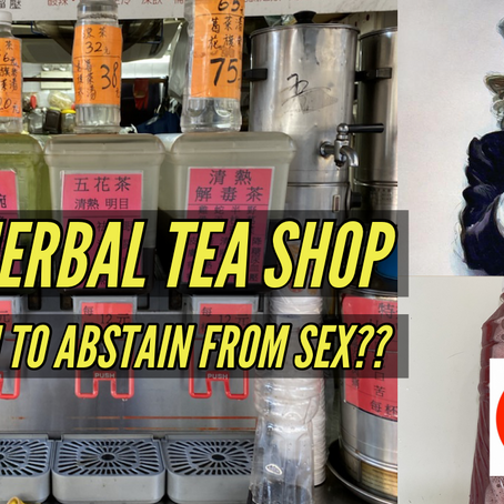 This herbal tea shop tells you to abstain from sex...